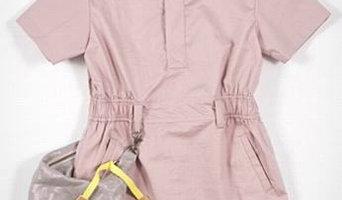 Kico Pink Removeable Pocket Dress