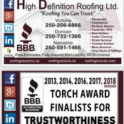 High Definition Roofing Ltd.'s photo