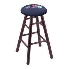 Oak Counter Stool Dark Cherry Finish With Colorado Avalanche Seat 24-inch