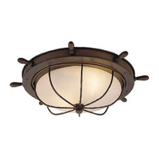 """Vaxel Lighting - Vaxel Lighting OF25515RC Orleans 15"""" Outdoor Ceiling Light Antique Red Copper - Outdoor Flush-mount Ceiling Lighting"""