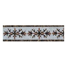 "Mosaic Border, Geometric Sunflower, 6""x12"""