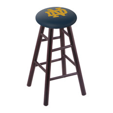 Maple Bar Stool Dark Cherry Finish With Notre Dame Nd Seat 30-inch