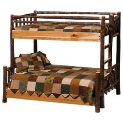 Awesome Rustic Bunk Beds Hickory Log Bunk Bed Left Single Single
