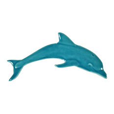 Ceramic Tile Designs, Mini Dolphin, Aqua