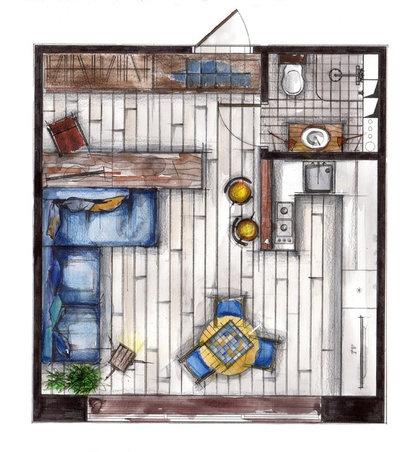 Лофт План этажа by Litvinov design
