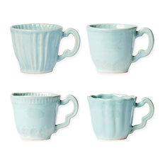 Incanto Stone Aqua Assorted Mugs, Set of 4