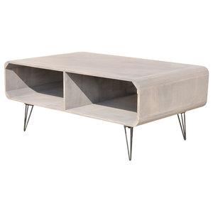 VidaXL Coffee Table, Grey, 90x55.5x38.5 cm