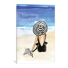 """Beach Time"" Print by Rongrong DeVoe, 26""x18""x.75"""