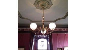 Victorian light fixture installation