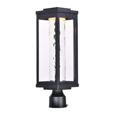 Salon LED 1 Light Post Light or Accessories in Black