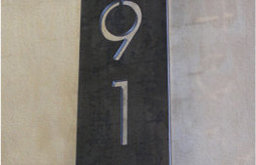 Vertical Steel Address Plaque By Austin Outdoor Studio