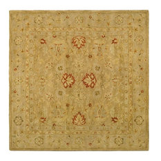 Safavieh Antiquity Collection AT822 Rug, Brown/Beige, 10' Square
