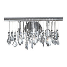 Most Popular Bathroom Vanity Lights With A Crystal Shade For - Bathroom vanity lights chrome finish