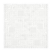"White Modern Glass Mosaic Kitchen Backsplash Tile, 12""x12"""