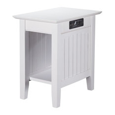Atlantic Furniture Nantucket Charger Chair Side Table In White