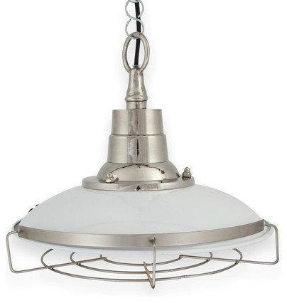 White Caged Steel Retro Pendant Light - Pendant Lighting  sc 1 st  Houzz & Industrial Pendant Lights azcodes.com