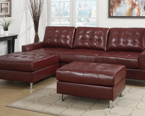 Sacramento Black Leather Sectional Sofa Set With Chaise By Urban : sacramento sectional sofa - Sectionals, Sofas & Couches