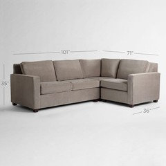Looking for nonstandard sectional size one short side