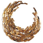 Innovations Designs - Crescent Copper Wall Sculpture - This beautiful Crescent Copper Wall Sculpture is made from individual pieces of ground and flame treated copper. It's a unique and stunning hand crafted piece of wall decor that will add beauty and style to your home.
