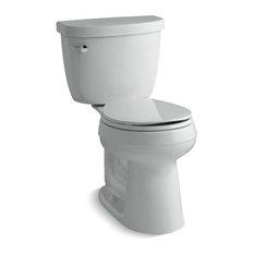 Kohler Cimarron 2-Piece Round-Front 1.6 GPF Toilet w/ Left-Hand Lever, Ice Grey