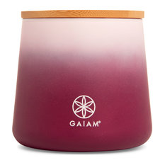 Gaiam Aromatherapy Scented Jar Candle, 14 Oz, Frankincense And Lavender