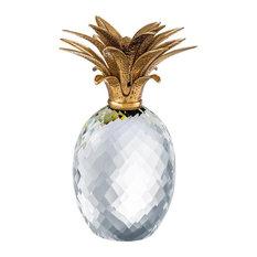 "Glass Pineapple Decor   Eichholtz, gold, 6""W x 6""D x 12""H   16W x 16D x 31H (Cm)"