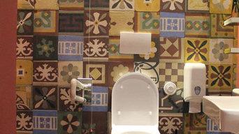 Cement tiles - Don Mimì restaurant - bath