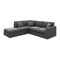 London Corner Sofa, Graphite, Left Facing