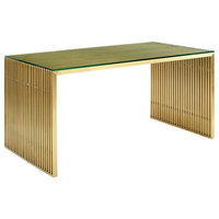 Pensive Stainless Metal Dining Table WL-04071-MW, Dining Table