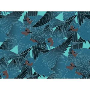 Hirunda Wallpaper, Matte, Blue, 3 m