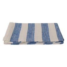 Linen Prewashed Philippe Tablecloth, Off White/Blue, 132x250cm