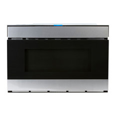 "24"" Flat Panel Microwave Drawer With Easy Wave Open Technology, Stainless Steel"