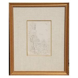 Dimitrie Berea, Paris, D0006, Ink Drawing