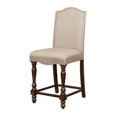 Linon Jade 24-inch Wood Counter Stool In Brown
