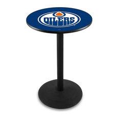 Edmonton Oilers Pub Table 28-inchx42-inch by Holland Bar Stool Company