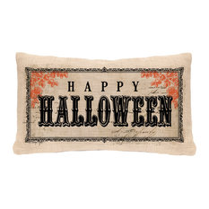"Vintage Halloween Pillow Cover, 12""x20"""