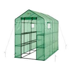 Extra Large Heavy Duty Walk-In 2-Tier 12-Shelf Portable Lawn, Garden Greenhouse