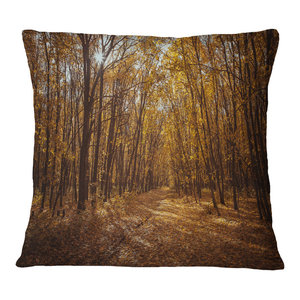 Home Kitchen Throw Pillow Covers Insert Printed On Both Side Designart Cu13918 20 20 C Pathway View At Sunset Modern Forest Round Cushion Cover For Living Room Sofa Throw Pillow 20
