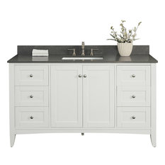 Fairmont Designs Shaker Americana 60-inch Single Vanity White Base Cabinet Only