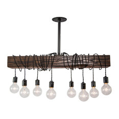 Whitewashed carved wood chandeliers houzz west ninth vintage wood beam chandelier chandeliers aloadofball Gallery