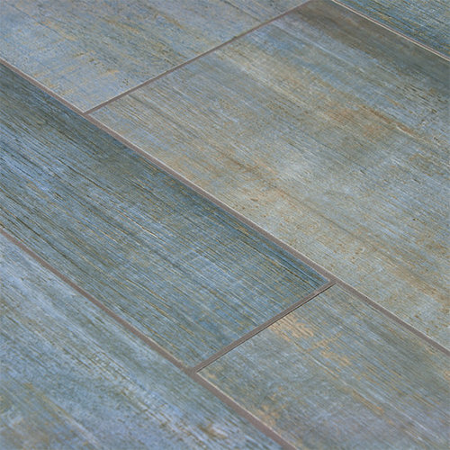 Barrique Blue Wood Plank Porcelain - Wall And Floor Tile - Wood Plank Porcelain Tile