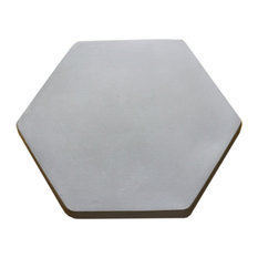 The Makerage - Concrete Lazy Susan Hexagon, 9 quot;, Gray - Table Tops And Bases