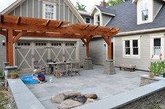 P S The Door Behind Pergola Rolls Up To What Will Become An Outdoor Kitchen Next Year One Project At A Time