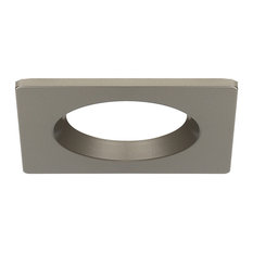 Square recessed lighting houzz torchstar 4 pack satin nickel square recessed light trim recessed trims aloadofball Image collections