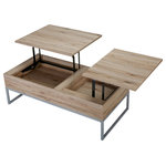 Ditmar Coffee Table Natural Brown Contemporary Coffee