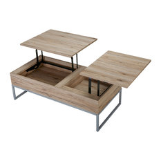 GDFStudio   Cerise Lift Top Storage Coffee Table, Sandy Brown   Coffee  Tables