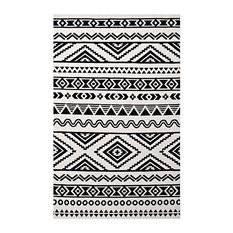 Geometric Moroccan Tribal Area Rug in Black and White (10 ft. L x 8 ft. W (36 lb
