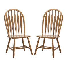 Intercon Furniture Classic Oak Detailed Arrow Back Side Chairs, Set of 2