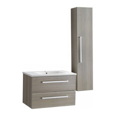 "ANZZI Conques 30"" x 20"" Bathroom Vanity with Ceramic Top and White Basin"