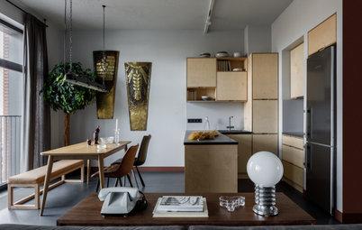 Houzz тур: Квартира с кухней из фанеры